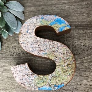 Map letter S initial